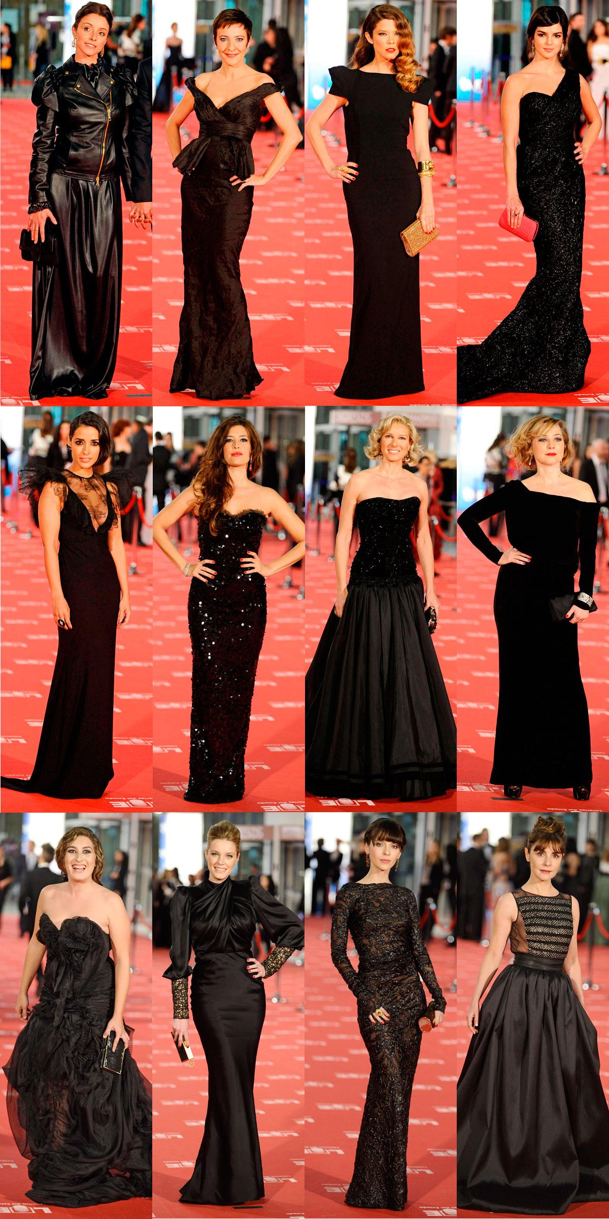 Vestidos negros Goya 2012