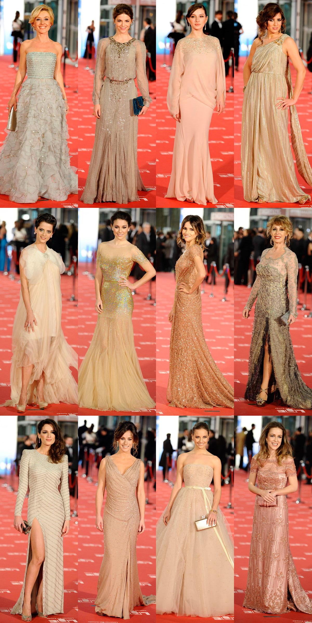 Vestidos nude Goya 2012