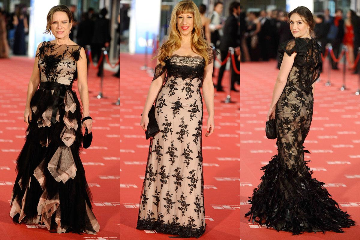 Vestidos transparencias Goya 2012