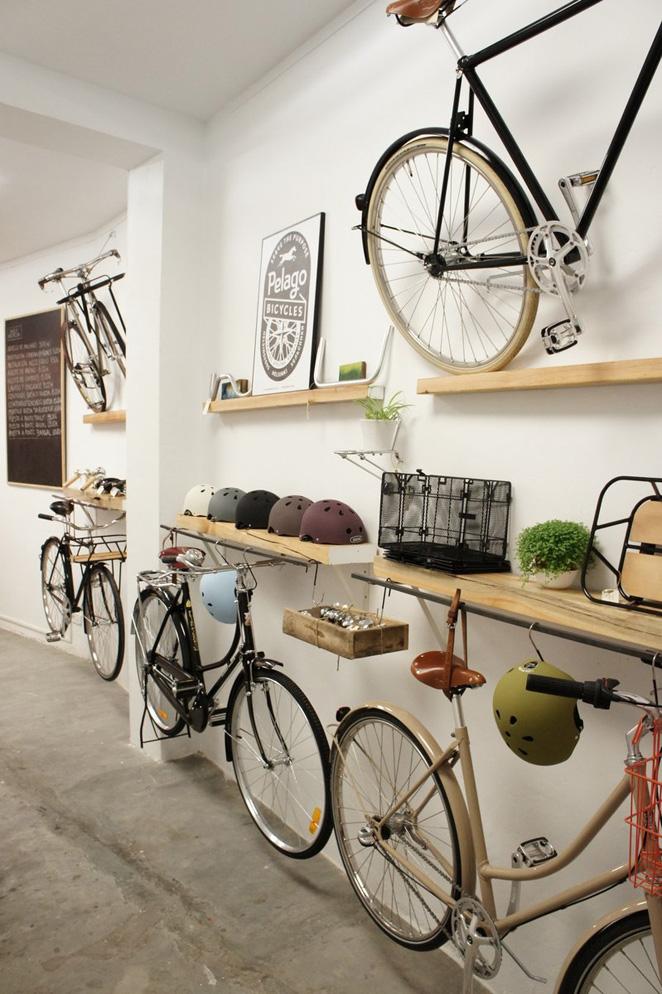 las tiendas de bicicletas: